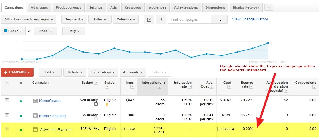 adwords-express-improvement