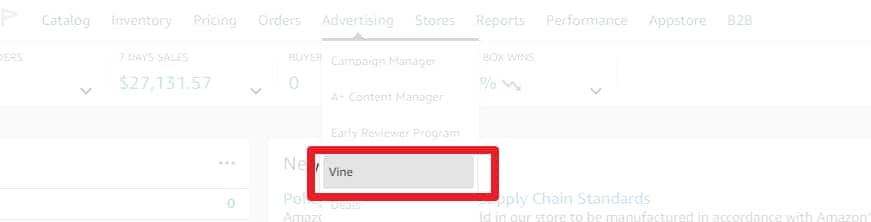 Amazon vine for all sellers